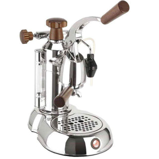 La Pavoni Espresso Machines Wood and Chrome La Pavoni 16 Cup Stradivari Professional Espresso Machine JL-Hufford