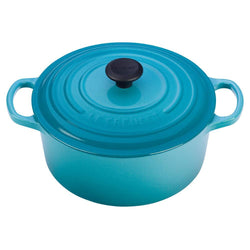 Le+Creuset+Dutch+Ovens+and+Braisers+Caribbean+Le+Creuset+4.5+qt+Enameled+Cast+Iron+Signature+Round+Dutch+Oven+JL-Hufford