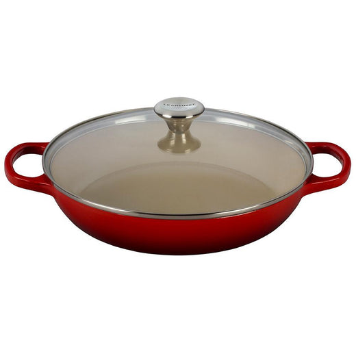 Le Creuset Dutch Ovens and Braisers Cerise Le Creuset 3.5 qt Signature Cast Iron Braiser with Glass Lid JL-Hufford