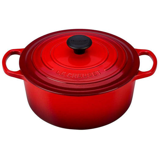 Le Creuset Dutch Ovens and Braisers Cerise Le Creuset 5.5 qt Enameled Cast Iron Signature Round Dutch Oven JL-Hufford