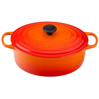 Le Creuset Dutch Ovens and Braisers Flame Le Creuset 6.75 Qt. Enameled Cast Iron Signature Oval Dutch Oven JL-Hufford
