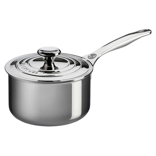 Le Creuset Saucepans Le Creuset 3 Qt. Stainless Steel Saucepan with Lid JL-Hufford
