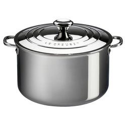 Le+Creuset+Bakers+%26+Casseroles+Le+Creuset+4+Quart+Stainless+Steel+Casserole+Pan+with+Lid+JL-Hufford
