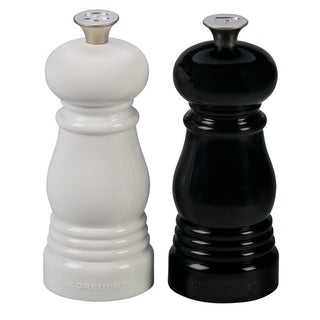 Le Creuset Salt & Pepper Mills Le Creuset Petite Salt and Pepper Mill Set - Black & White JL-Hufford