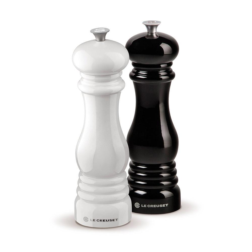Le Creuset Salt and Pepper Mill Set - Black and White