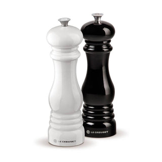 Le Creuset Salt & Pepper Mills Le Creuset Salt and Pepper Mill Set - Black and White JL-Hufford
