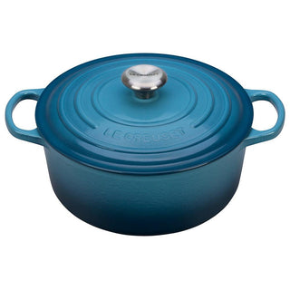 Le Creuset Dutch Ovens and Braisers Marine Le Creuset 5.5 qt Enameled Cast Iron Signature Round Dutch Oven JL-Hufford