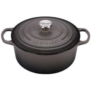 Le Creuset Dutch Ovens and Braisers Oyster Le Creuset 5.5 qt Enameled Cast Iron Signature Round Dutch Oven JL-Hufford