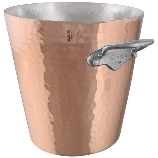 "Mauviel Wine, Bar & Ice Tools 8"" Mauviel M'30 Hammered Copper Champagne Bucket JL-Hufford"