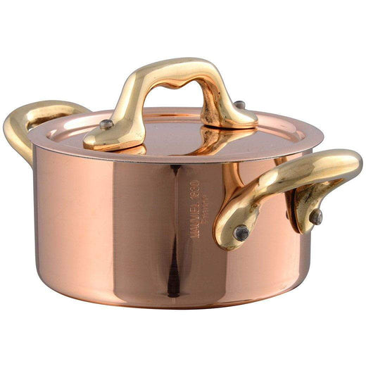 Mauviel Specialty Cookware Bronze Mauviel M'Heritage Mini Copper Cocotte with Lid JL-Hufford