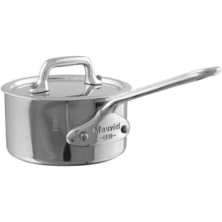 Mauviel Saucepans Mauviel M'Cook Mini Stainless Steel Saucepan with Lid - 0.4qt JL-Hufford
