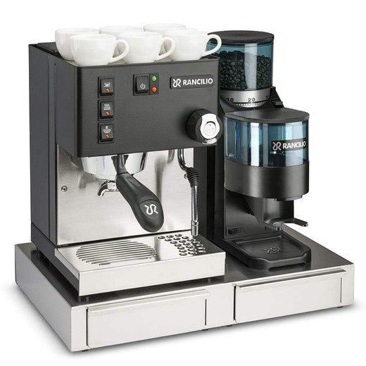 Rancilio Pump Espresso Machines Doser / With Base Rancilio Silvia M V5 and Rocky Bar Combo - Limited Edition Black JL-Hufford