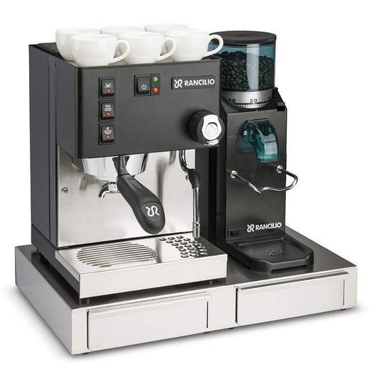 Rancilio Pump Espresso Machines Doserless / With Base Rancilio Silvia M V5 and Rocky Bar Combo - Limited Edition Black JL-Hufford