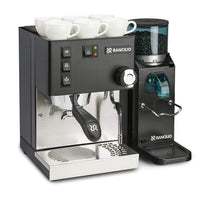 Rancilio Pump Espresso Machines Doserless / Without Base Rancilio Silvia M V5 and Rocky Bar Combo - Limited Edition Black JL-Hufford