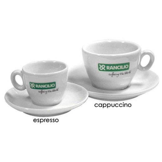 Rancilio Coffee Mugs & Espresso Cups Rancilio Espresso Cup and Saucer Set of 6 JL-Hufford