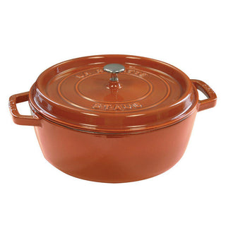 Staub Dutch Ovens and Braisers Burnt Orange Staub Cast Iron 4-qt Shallow Wide Round Cocotte JL-Hufford