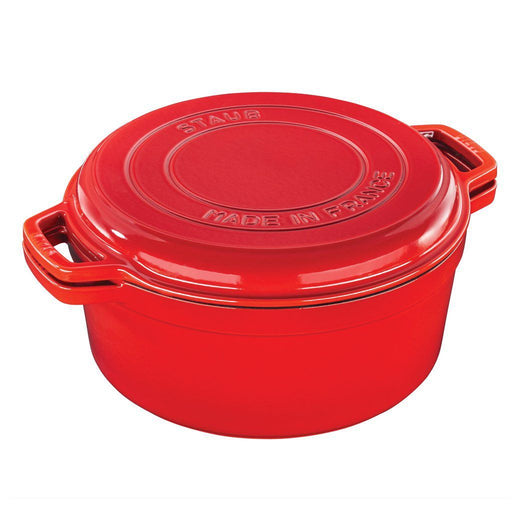 Staub Dutch Ovens and Braisers Cherry Staub Cast Iron 7-qt Braise & Grill JL-Hufford