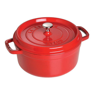 Staub Dutch Ovens and Braisers Cherry Staub Cast Iron 9-qt Round Cocotte JL-Hufford