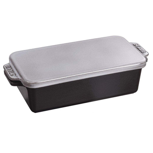 "Staub Bread & Loaf Pans Graphite Grey Staub Cast Iron 12.75"" x 5.25"" Covered Loaf Pan JL-Hufford"