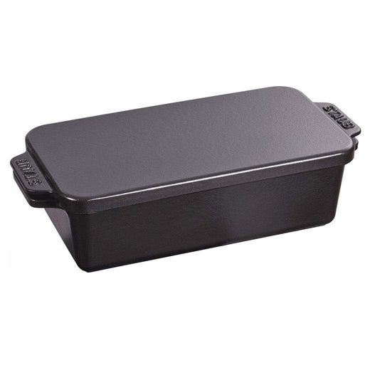 "Staub Bread & Loaf Pans Matte Black Staub Cast Iron 12.75"" x 5.25"" Covered Loaf Pan JL-Hufford"