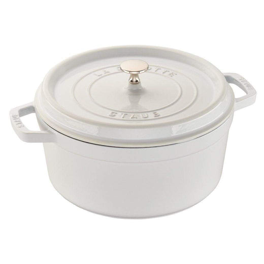Staub Dutch Ovens and Braisers White Staub Cast Iron 5.5-qt Round Cocotte JL-Hufford
