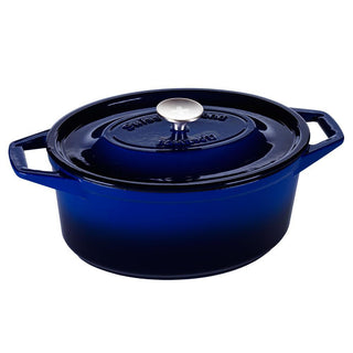 Swiss Diamond Dutch Ovens and Braisers Saphir Bleu / 5.6 Qt. Swiss Diamond - Cast Iron Oval Casserole JL-Hufford