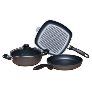 Swiss Diamond Cookware Sets Swiss Diamond 4 pc. set - Fry Pan, Casserole, and Grill Pan JL-Hufford