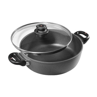 "Swiss Diamond Dutch Ovens and Braisers Swiss Diamond HD Induction 11"" Braiser with Lid (5.3 qt) JL-Hufford"