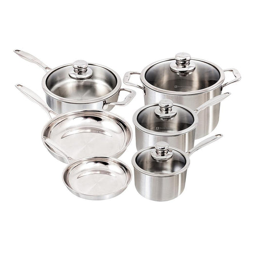 Swiss Diamond Cookware Sets Swiss Diamond Premium Clad 10 pc. Cookware Set JL-Hufford