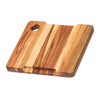"TeakHaus Cutting Boards Proteak Bar Board with Juice Groove, 8"" x 8"" JL-Hufford"