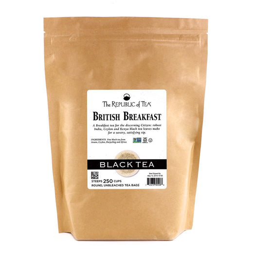 The Republic of Tea Gourmet Teas The Republic of Tea British Breakfast Bags 250 Ct. JL-Hufford