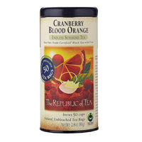 The Republic of Tea Gourmet Teas The Republic of Tea Cranberry Blood Orange Black Tea Bags 50 Ct. JL-Hufford