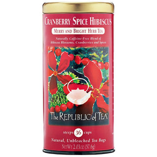 The Republic of Tea Gourmet Teas The Republic of Tea Cranberry Spice Hibiscus 36 Ct. JL-Hufford