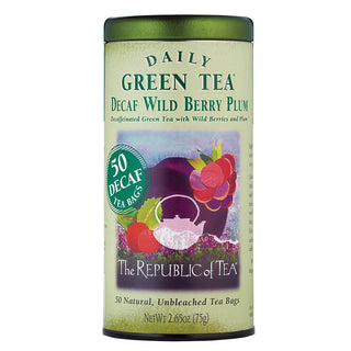 The Republic of Tea Gourmet Teas The Republic of Tea DECAF Wild Berry Plum Tea Bags, 50 Ct. JL-Hufford