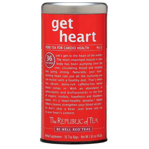 The Republic of Tea Gourmet Teas The Republic of Tea get heart - No. 12 Herb Tea for Cardio Health JL-Hufford