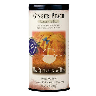The Republic of Tea Gourmet Teas The Republic of Tea Ginger Peach Black Tea Bags JL-Hufford