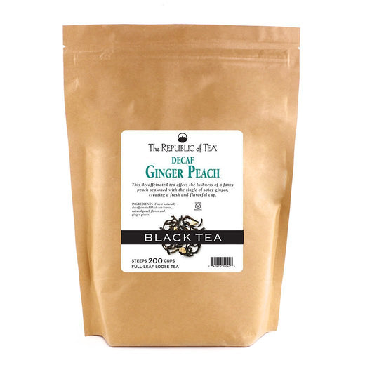 The Republic of Tea Gourmet Teas The Republic of Tea Ginger Peach Decaf Full-Leaf Loose Bulk 1lb JL-Hufford
