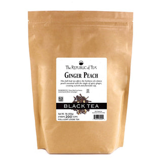 The Republic of Tea Gourmet Teas The Republic of Tea Ginger Peach Full-Leaf Loose Bulk 1 lb JL-Hufford