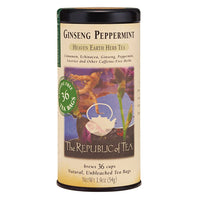 The Republic of Tea Gourmet Teas The Republic of Tea Ginseng Peppermint Herbal Tea Bags 36 Ct. JL-Hufford