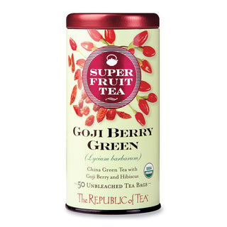 The Republic of Tea Gourmet Teas The Republic of Tea Goji Berry Green Superfruit Tea Bags 36 Ct. JL-Hufford