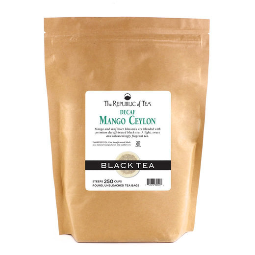 The Republic of Tea Gourmet Teas The Republic of Tea Mango Ceylon Decaf Bags 250 Ct. JL-Hufford