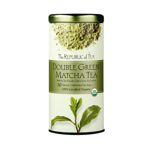 The Republic of Tea Gourmet Teas The Republic of Tea Organic Double Green Matcha Tea - 50 Tea Bags JL-Hufford