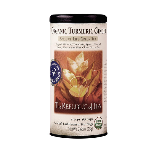 The Republic of Tea Gourmet Teas The Republic of Tea Organic Turmeric Ginger Green Tea JL-Hufford