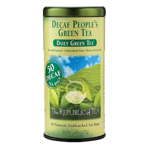The Republic of Tea Gourmet Teas The Republic of Tea People's Green Decaf Bags JL-Hufford