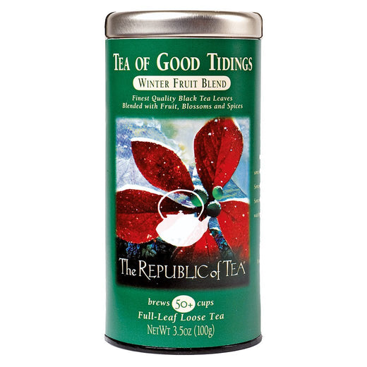 The Republic of Tea Gourmet Teas The Republic of Tea Tea of Good Tidings Black Full-Leaf 50 Ct. JL-Hufford