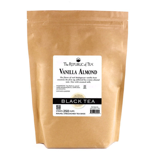 The Republic of Tea Gourmet Teas The Republic of Tea Vanilla Almond Bags 250 Ct. JL-Hufford