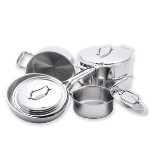 USA Pan Cookware Sets USA PAN - 8 Piece 5-ply Stainless Steel Cookware Set JL-Hufford