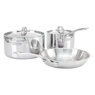Viking Cookware Sets Viking 3-Ply 5-Piece Starter Cookware Set, Mirror JL-Hufford