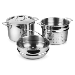 Viking+Stockpots+%26+Soup+Pots+Viking+3-Ply+Stainless+Steel+Multipot%2C+8+Qt+JL-Hufford