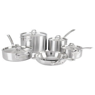 Viking Cookware Sets Viking Professional 5-Ply 10-Piece Cookware Set, Satin JL-Hufford